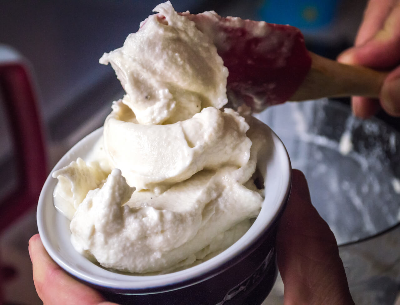 Vanilla Ice Cream made in a Bag
