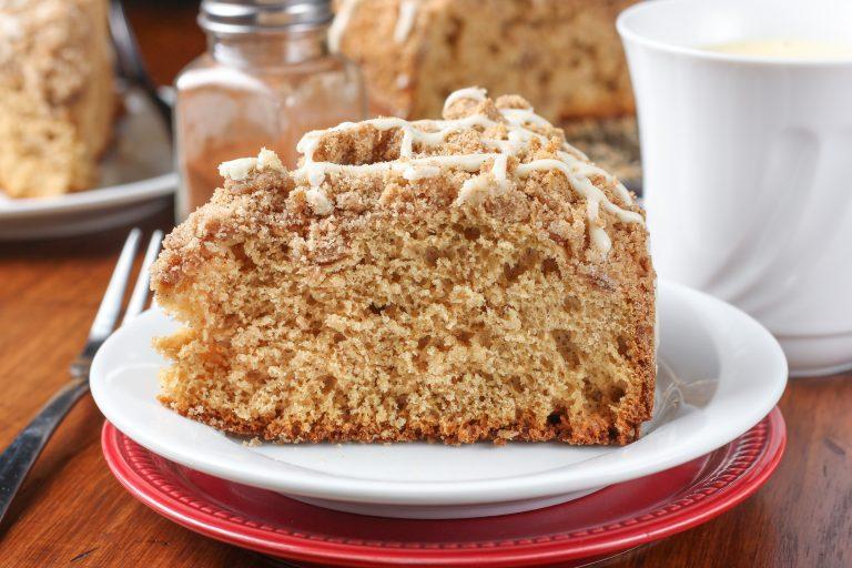 Eggnog Glazed Gingerbread Coffee Cake