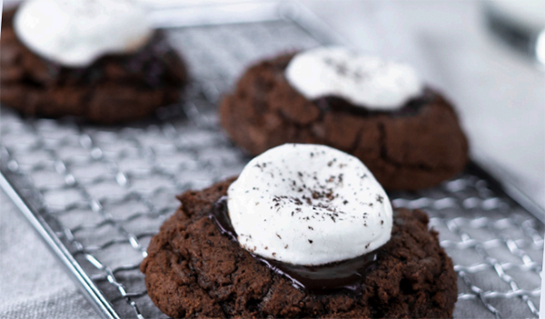 Holiday Baking Food Safety Sylin' with Hot Chocolate Cookies