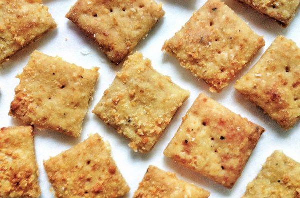 Crunchy Parmesan Crackers