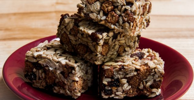 Almond Butter-Chocolate Chip Cereal Bars