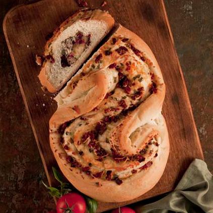 Tomato, Basil, and Garlic Filled Pane Bianco