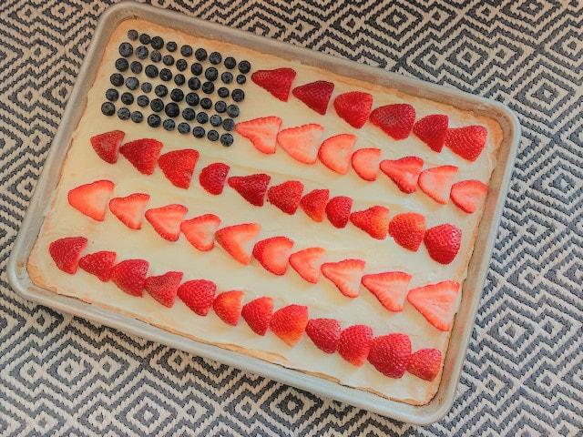 Sugar Cookie Fruit Pizza Flag