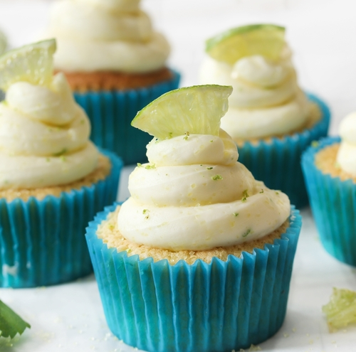 Tropical Key Lime Cupcakes