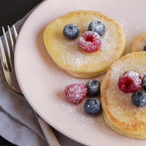 Cottage Cheese Pancakes with Fresh Berries