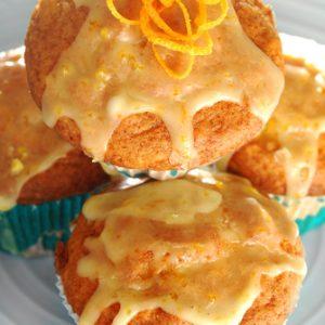 Orange Sour Cream Muffins with Zesty Orange Icing
