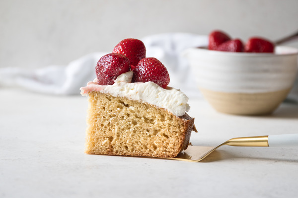 Summer Berry Olive Oil Cake With Vanilla Buttercream