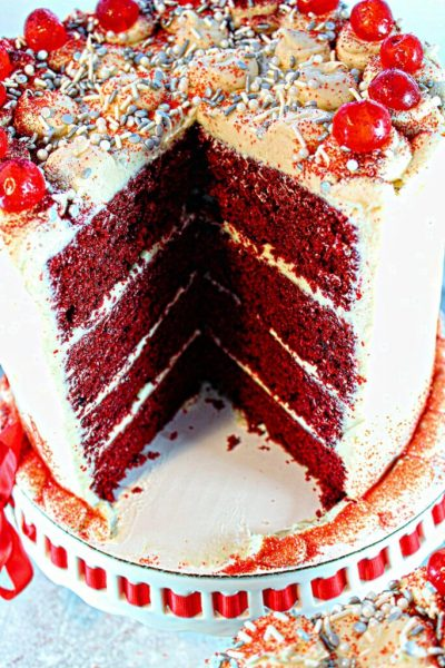 Big Texas Red Velvet Cake with Cream Cheese Frosting