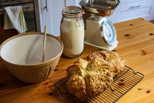 Irish Soda Bread with Bacon and Gouda