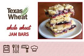 Whole Wheat Jam Bars