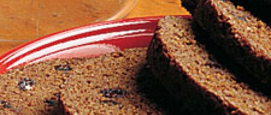 Boston Brown Bread Made in a Loaf Pan