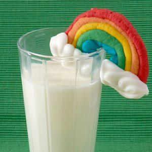 Rainbow-Shaped Cookies