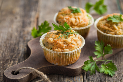 Savory Muffins with Zucchini and Cheese