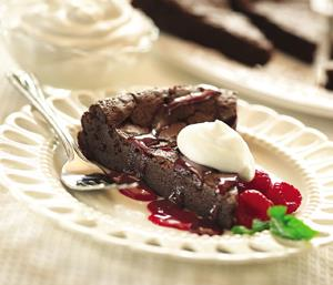 Flourless Raspberry Mocha Cake