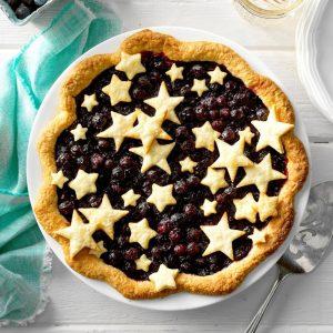 Blueberry Pie II (makes one, Double-Crust Pie)